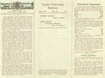 Taylor University Bulletin (April 1951) by Taylor University