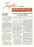 Taylor University Bulletin (July 1960) by Taylor University