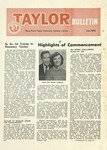 Taylor University Bulletin (July 1957) by Taylor University