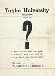 Taylor University Bulletin (January 1946) by Taylor University