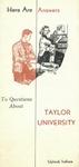 Taylor University Bulletin (February 1950) by Taylor University