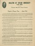 Taylor University Bulletin (July 1950) by Taylor University