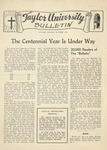 Taylor University Bulletin (October 1945) by Taylor University