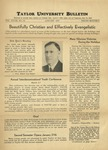Taylor University Bulletin (January 1937) by Taylor University