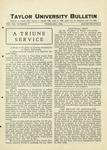 Taylor University Bulletin (February 1929)