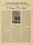 Taylor University Bulletin (February 1938)