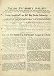Taylor University Bulletin (March 1933)