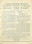 Taylor University Bulletin (April 1932)