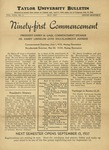 Taylor University Bulletin (May 1937) by Taylor University