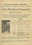 Taylor University Bulletin (May 1938) by Taylor University