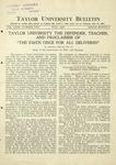 Taylor University Bulletin (July 1931)
