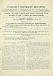 Taylor University Bulletin (August 1932) by Taylor University
