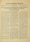 Taylor University Bulletin (August 1934) by Taylor University