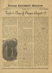 Taylor University Bulletin (August 1937)