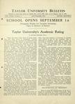 Taylor University Bulletin (September 1931)