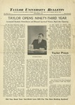 Taylor University Bulletin (September 1938) by Taylor University