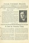 Taylor University Bulletin (December 1933)