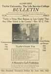 Taylor University Bulletin (April 1922) by Taylor University