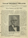 Taylor University Bulletin (April 1924) by Taylor University