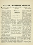 Taylor University Bulletin (April 1925) by Taylor University