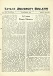 Taylor University Bulletin (September 1927) by Taylor University