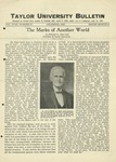 Taylor University Bulletin (Decembers 1925) by Taylor University