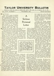 Taylor University Bulletin (Decembers 1926) by Taylor University