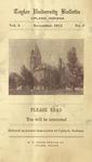 Taylor University Bulletin (November 1912) by Taylor University
