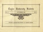 Taylor University Bulletin (November 1913) by Taylor University