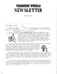 Wandering Wheels Newsletter, September 1981