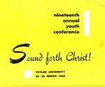 Youth Conference 1952 (Information Brochure)